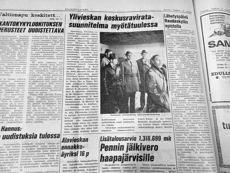 Raviratasuunnitelmia ja monta muuta kiinnostavaa uutista oli lehdessä 50 vuotta sitten.