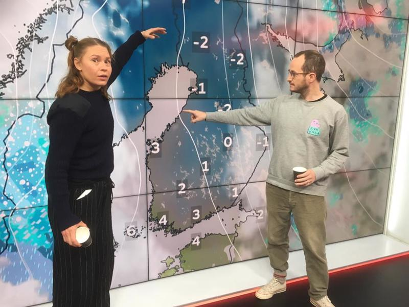 Elokuva-alan isot nimet Seidi Haarla ja Juho Kuosmanen lupaavat hyvää säätä Kokkolaan.