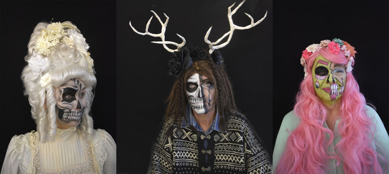 1. Barokkikuningatar 2. Metsän valtias 3. Pop Art -zombie