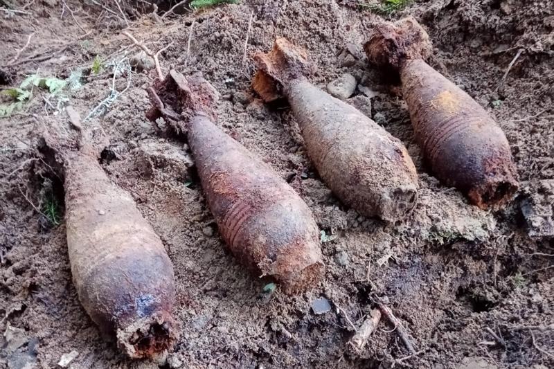 Oulaisissa peltoon haudatut kranaatit eivät olleet viritettyjä.