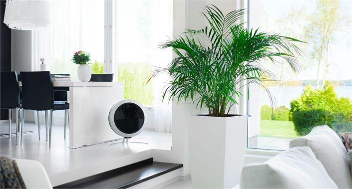 UniqAir-ilmanpuhdistimet ovat myös sisustuksellisesti näyttäviä.