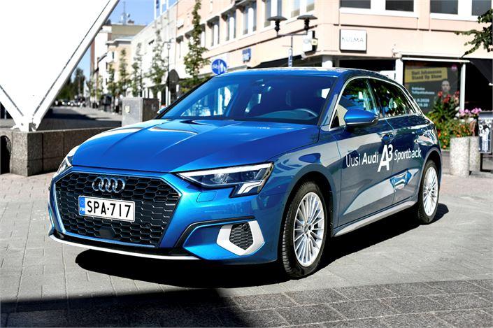 "Audi A3:n keula on varsin ""menevän"" näköinen."
