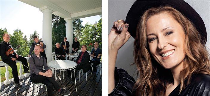 Torstaina 15.7. Kaustisen kiintotähti JPP tapaa huumata yleisönsä. Mariska nousee lavalle Kaustisen oman housebandin kanssa.