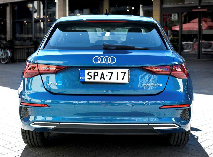 Audille ominaiset piirteet on säilytetty.