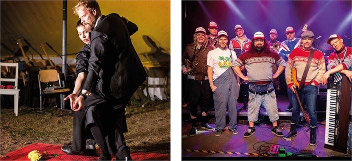 Perjantaina 16.7. Rehupiikles viihdyttää Tanssiteatteri Tsuumin Improvisoitujen iltamien jälkeen.