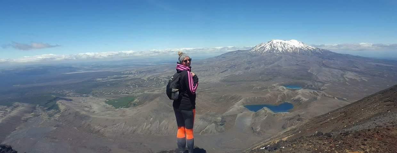 Saana-Eerika kävi Tongariro Crossing -vaelluksella Uudessa-Seelannissa.