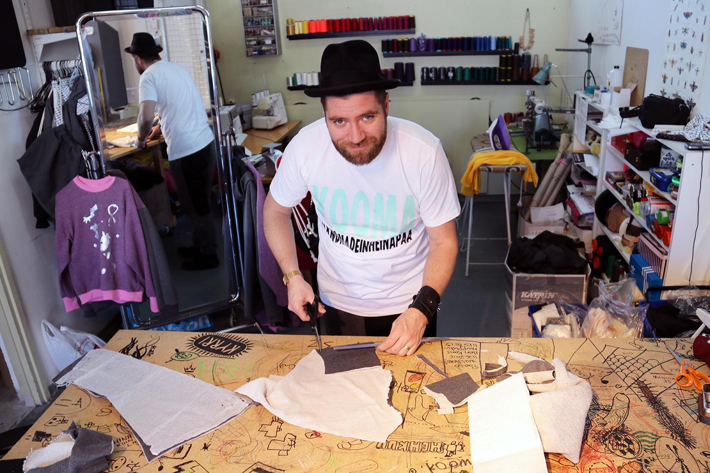 Antti päätyi tekstiilitöiden pariin jo yläasteella.