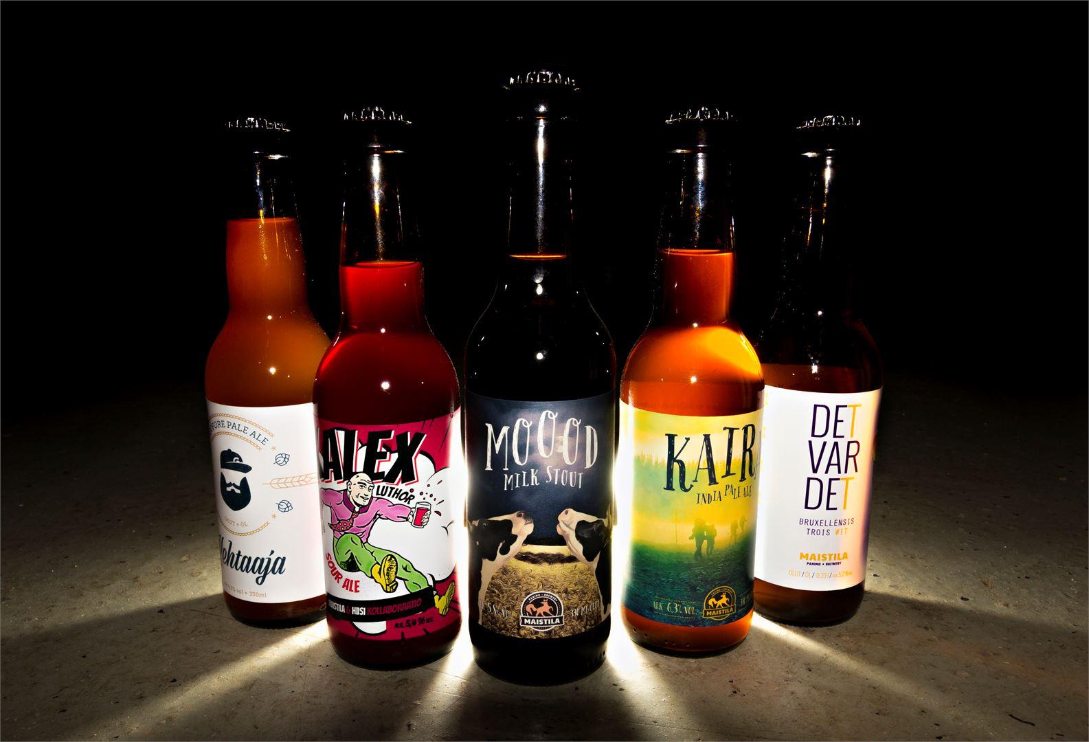 Nykypäivän olutvalikoima on värikäs ja monipuolinen. Kuva Markus Kärkinen
