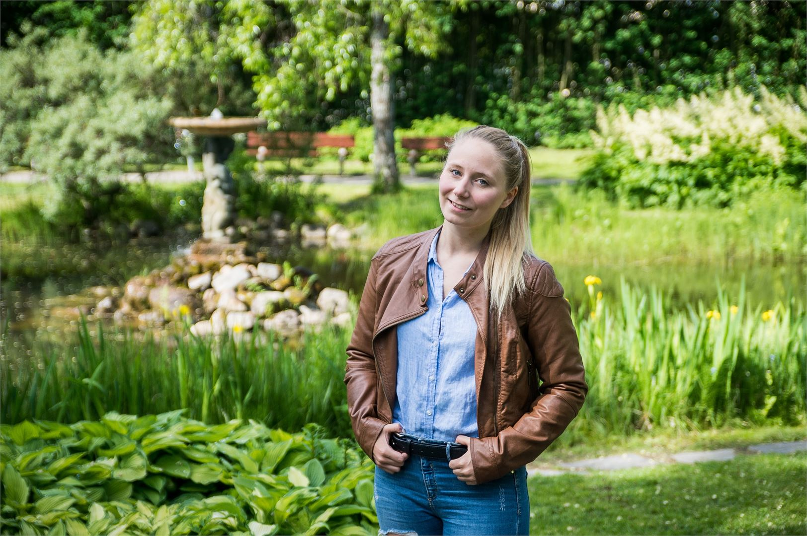 Ida-Marie Jungellin mielestä Pietarsaari on pieni kaupunki, jolla on kuitenkin todella suuri sydän.
