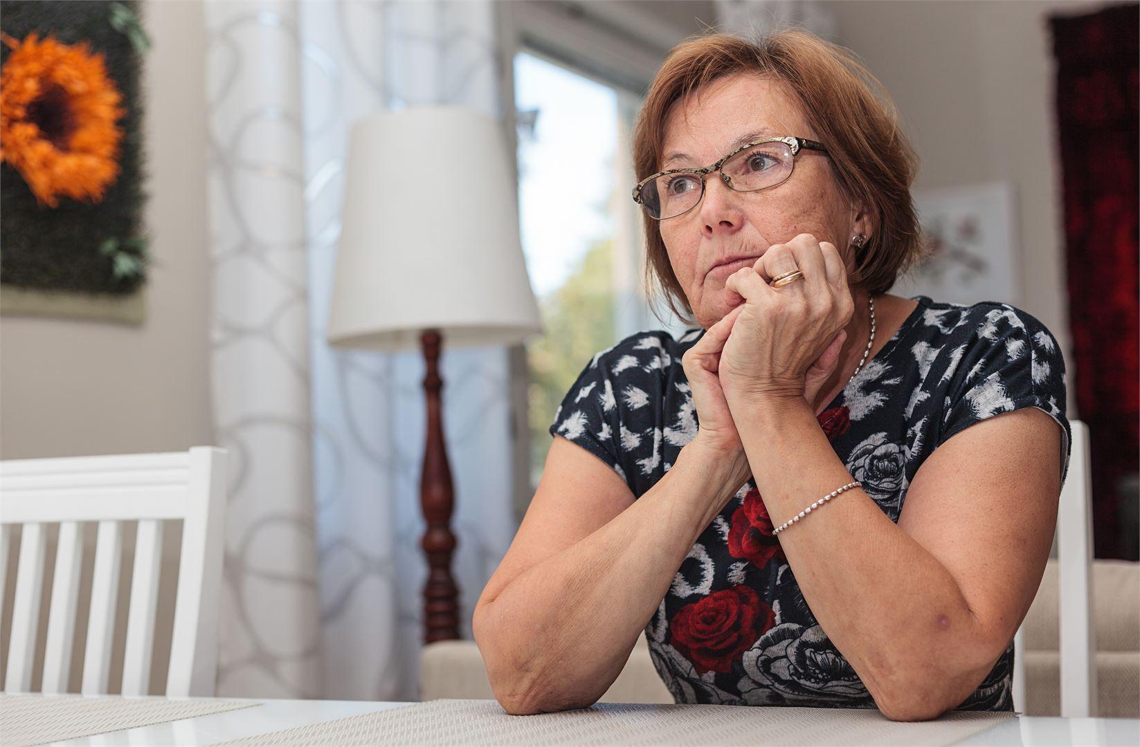 Alzheimer-diagnoosi oli Marja-Leenalle täysi yllätys. Kuva Satu Keski-Rahkonen