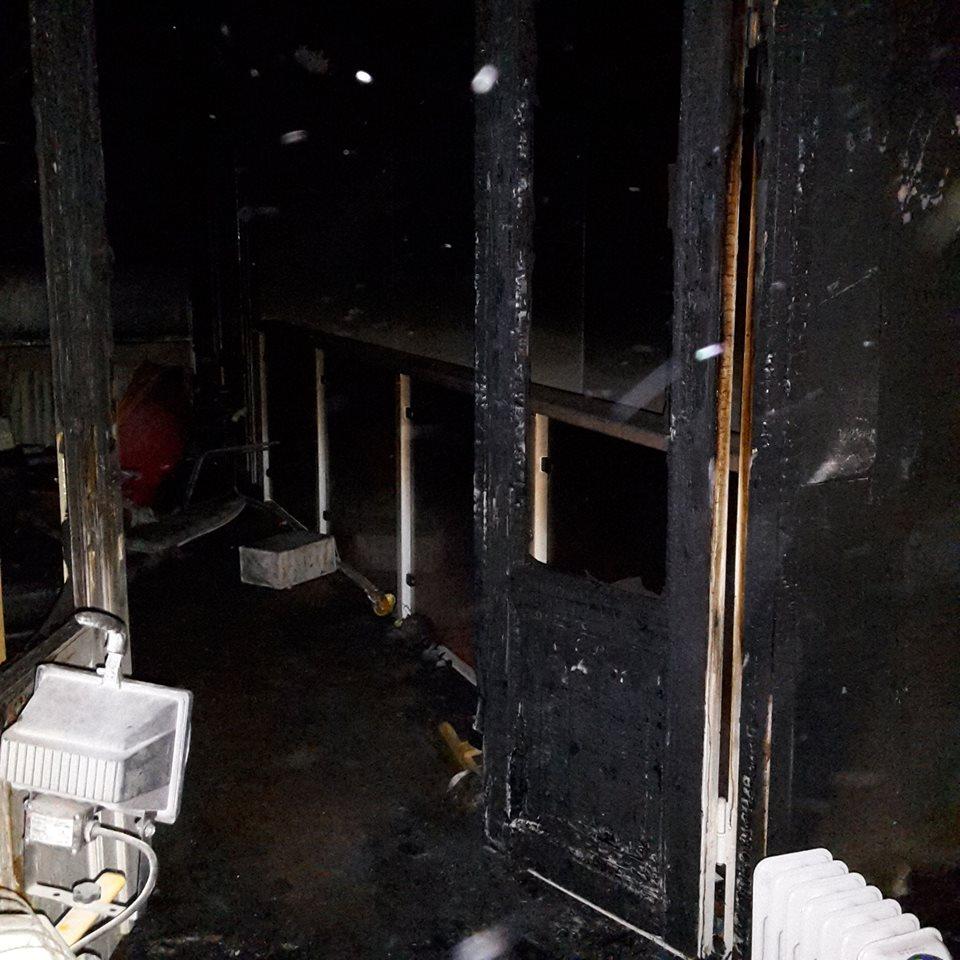 Näin pahasti elokuvahuone paloi.