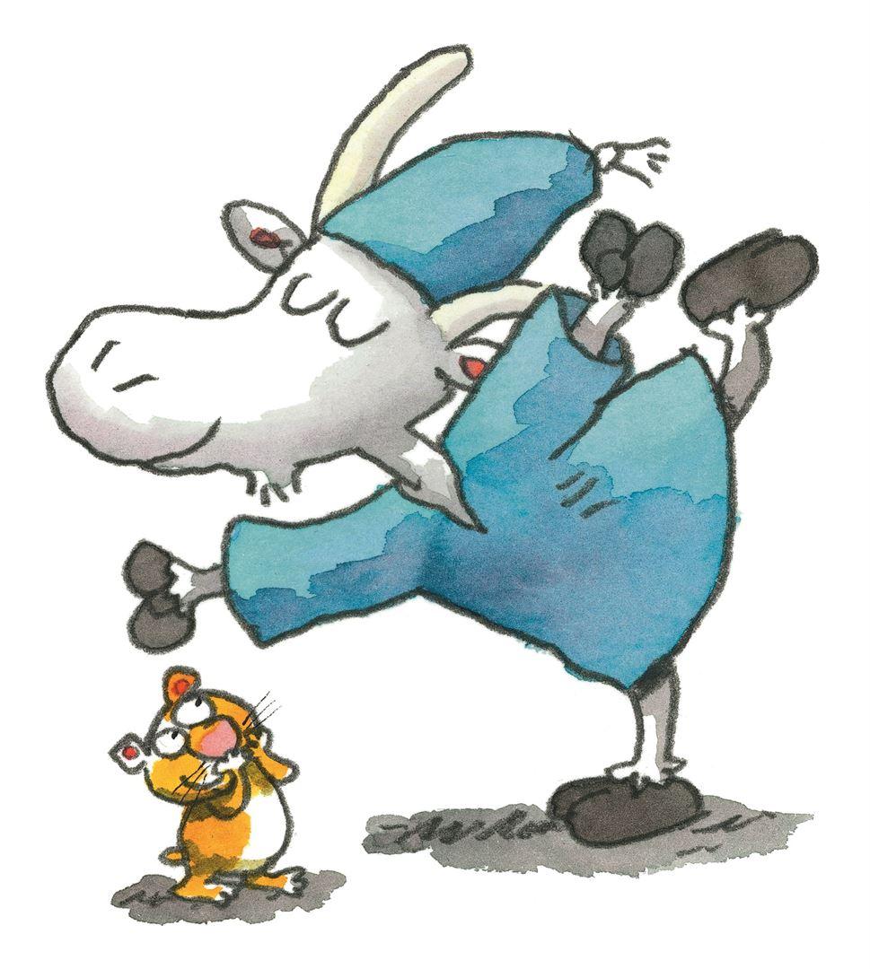 Herra Hakkarainen on tuttu kaveri, joka seikkailee Kunnaksen kirjoissa myös juonen ulkopuolisena hahmona. ©2016 Doghill Productions Oy ja Kustannusosakeyhtiö Otava.
