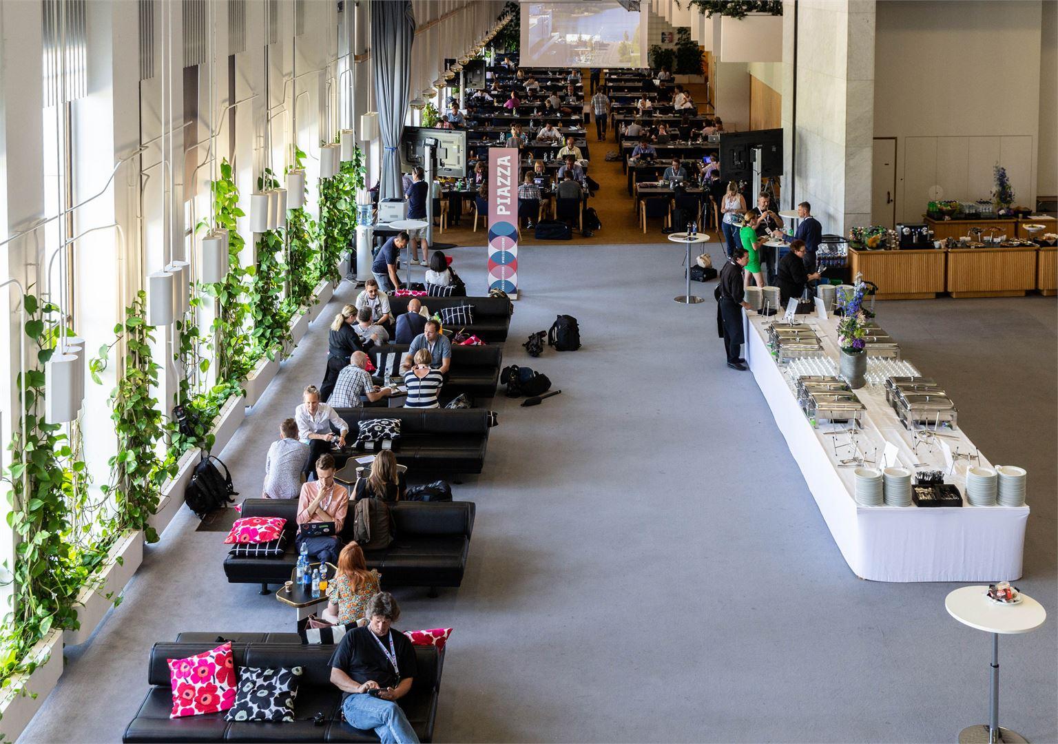 Пресс-центр в Дворце Финляндия